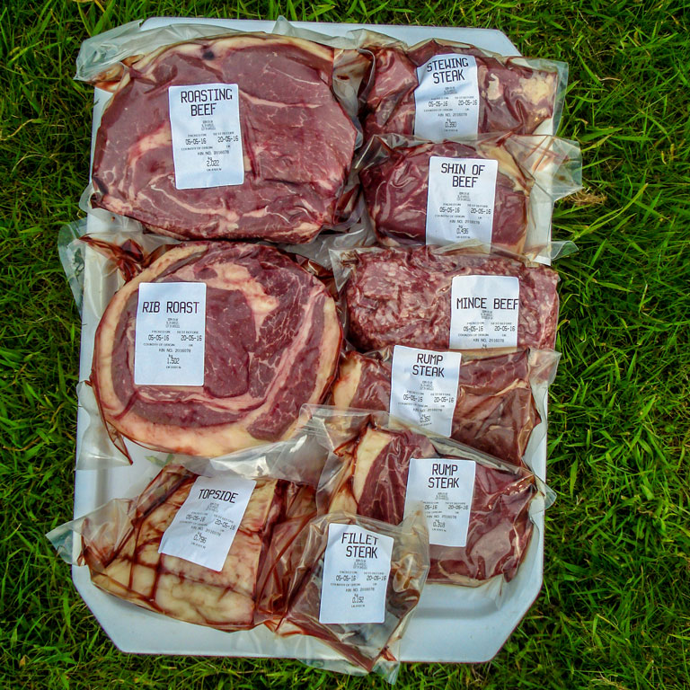 Rocknell Red Ruby Devon Beef Mixed Boxes 10kg Selection